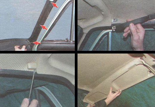 замена переднего ветрового стекла ваз 2106