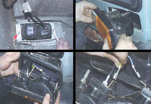 замена подфарников на автомобиле ваз 2106