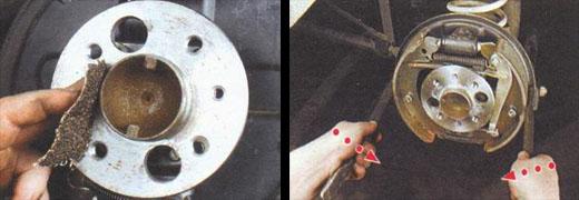 замена заднего тормозного барабана ваз 2106