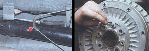 замена тормозного барабана автомобиль ваз 2106