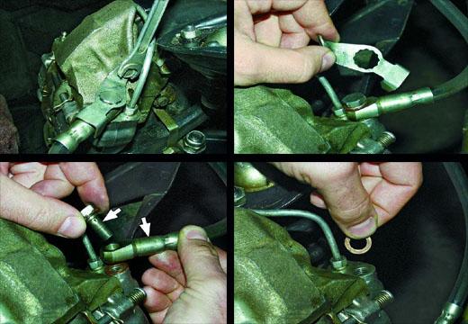 снятие и установка тормозного суппорта ваз 2106