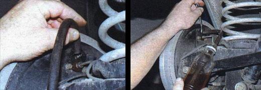 автомобиль ваз 2106 замена тормозной жидкости