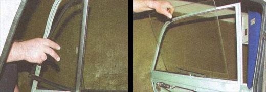 замена задних боковых стекол автомобиля ваз 2106