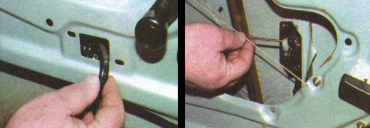 меняем дверной замок передней двери автомобиля ваз 2106