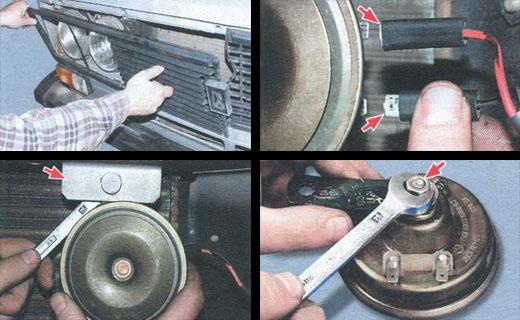 автомобиль ваз 2106 замена звукового сигнала
