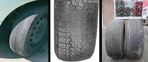 неравномерный износ колесных шин ваз 2106
