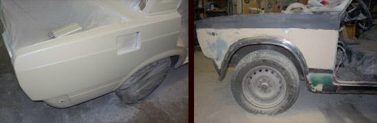 образование наплывов, подтеков и пылевидного налета на лакокрасочном покрытие кузова автомобиля