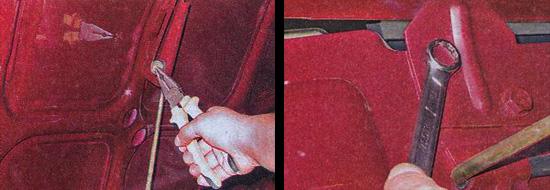 снятие и установка капота с автомобиля ваз 2107