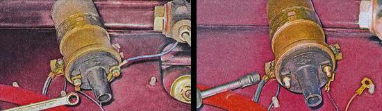 катушка зажигания ваз 2107 - снятие и установка