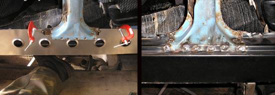 замена порогов на автомобиле ваз 2106