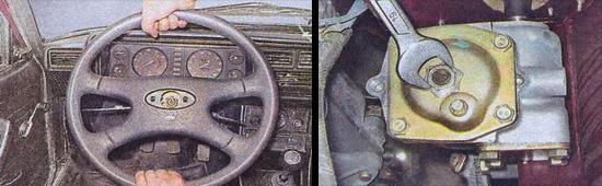 проверяем рулевую систему автомобиля ваз 2107