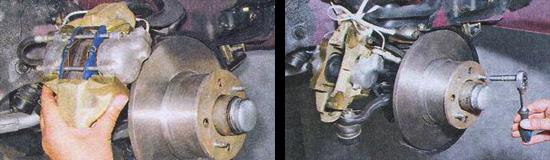 замена тормозных дисков ваз 2107