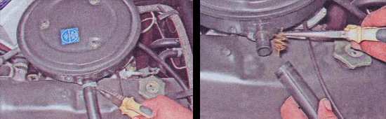 снятие корпуса воздушного фильтра ваз 2107
