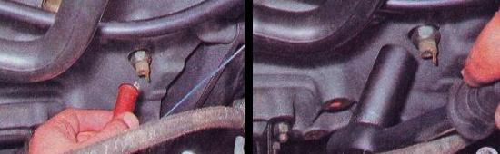 Выполняем замену датчика давления масла на автомобиле ваз 2105