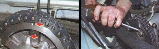 Осуществляем замену цепи привода распределительного вала на автомобиле ваз 2105