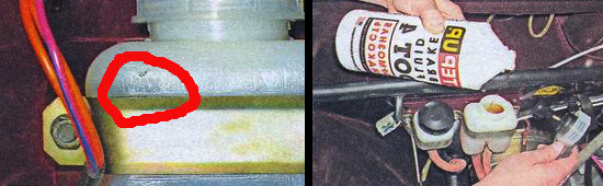 Контроль уровня тормозной жидкости на автомобиле ваз 2105