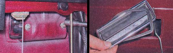 Снятие наружной ручки замка передней двери ваз 2105