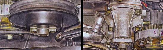 Как снять насос охлаждающей жидкости на автомобиле ваз 2105
