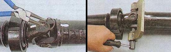 Разборка карданного шарнира ваз 2105