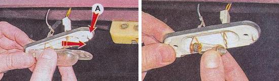 Замена фонарей освещения номерного знака Ваз 2105
