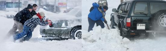 Как выбраться из снежной колеи
