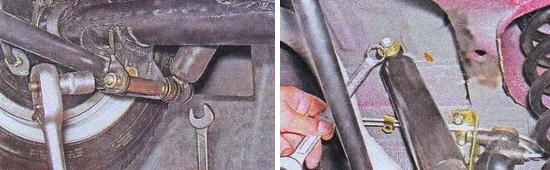 Замена задних амортизаторов Ваз 2105