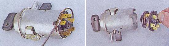 Замена контактной группы замка зажигания Ваз 2105