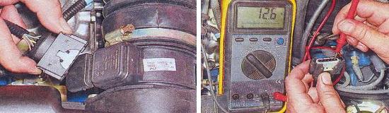 Проверка датчика массового расхода воздуха Ваз 2105