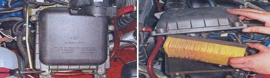 Фильтрующий элемент воздушного фильтра Ваз 2105. Инжекторный двигатель