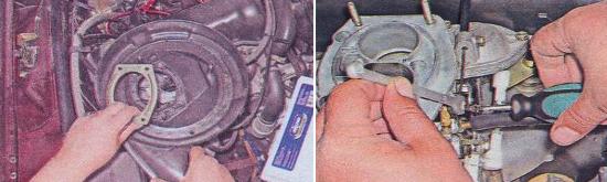 Регулировка привода воздушной заслонки Ваз 2105
