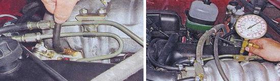Проверка давления в топливной системе Ваз 2105