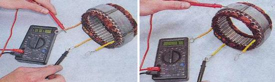 Проверка статора генератора 9412.3701 Ваз 2105
