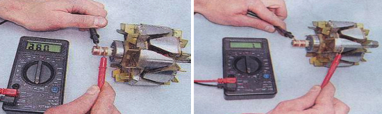 Проверка ротора генератора 9412.3701 Ваз 2105