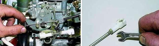 Регулировка привода карбюратора Нива 2121 и 2131